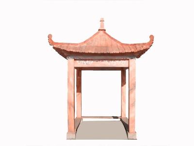 晚xia红四角liang亭展示