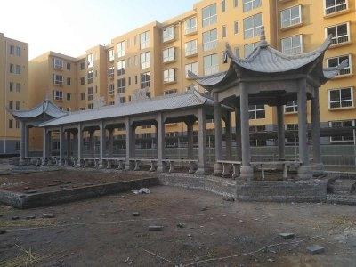 长廊qing石liang亭