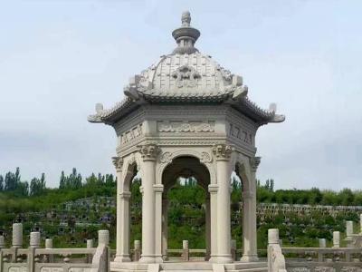 陵园ou式石liang亭