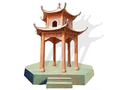 双层晚xia红石liang亭