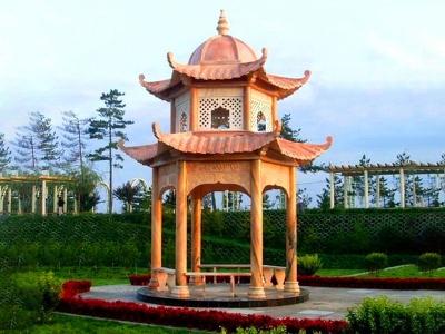 公园石liang亭
