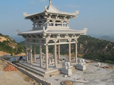shan边da型花岗岩石liang亭