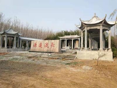 源远流chang景区shi雕chang廊凉亭