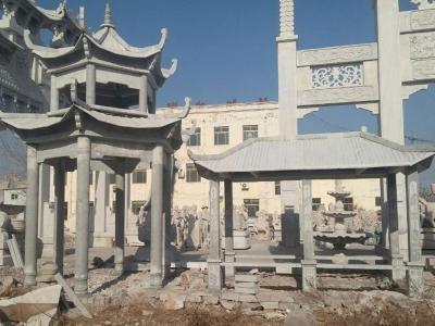 双层石雕liang亭