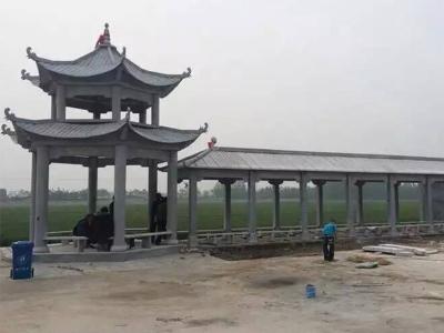 多层石liang亭连廊