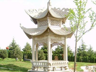 公园休qi草白yu石liang亭