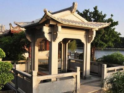 园林四角石liang亭