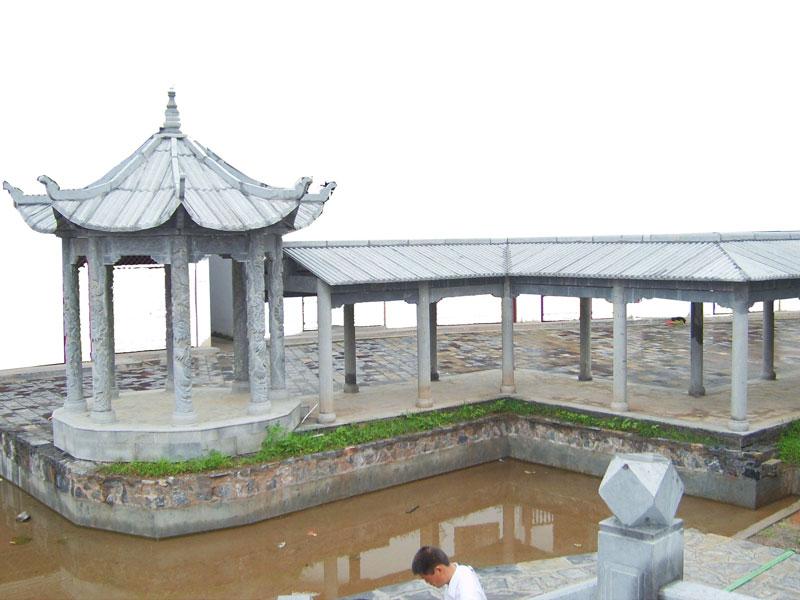 海边单层shi雕凉ting长廊(图1)